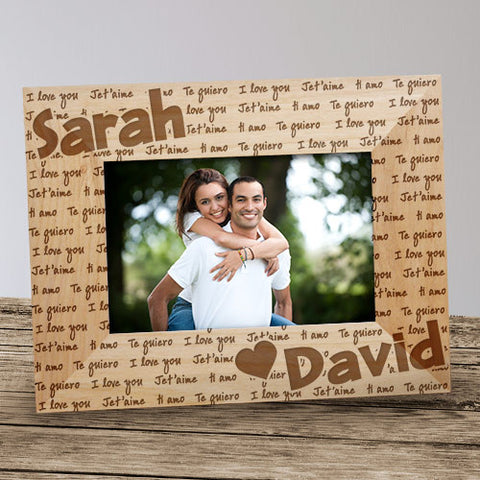 I Love You Personalized Wood Frame