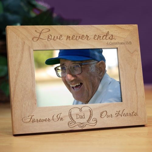 Love Never Ends Memorial Wood Frame