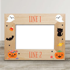 Personalized Halloween Wood Photo Frame