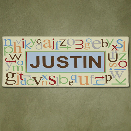 Alphabet & Name Wall Canvas
