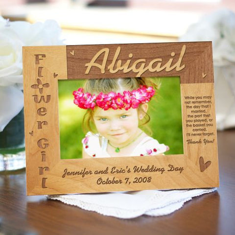 Flower Girl Personalized Wood Frame