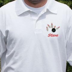 Embroidered Bowling Polo Shirt (3 Colors)