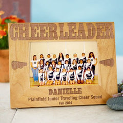 Cheerleader Wood Picture Frame