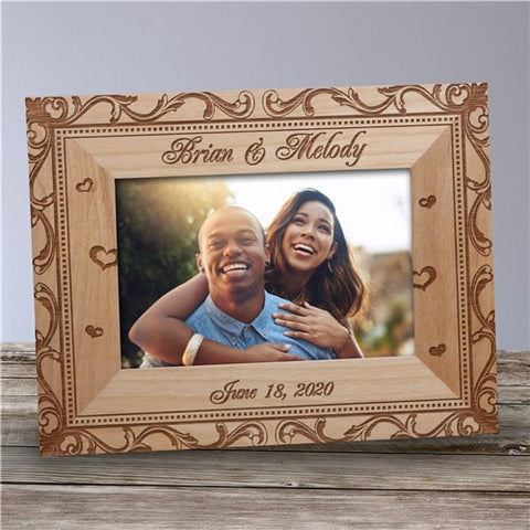 Engraved Filigree Custom Photo Frame