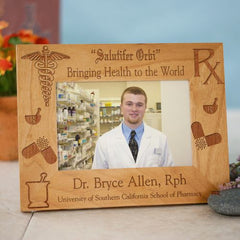 Engraved Pharmacist Wood Picture Frame