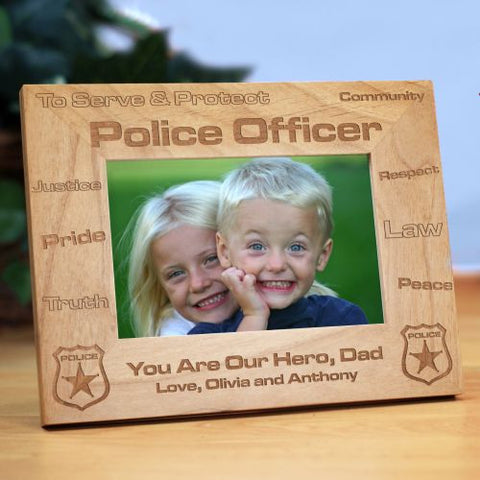 Law Enforcement Wood Picture Frame
