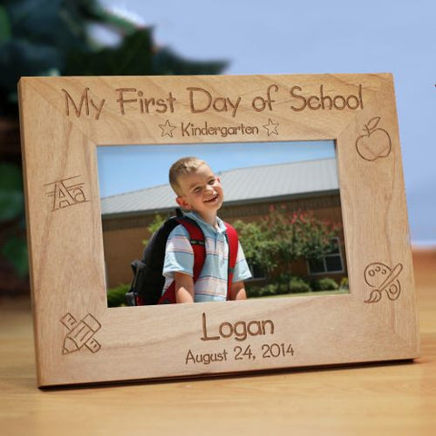 First School Day Wood Frame