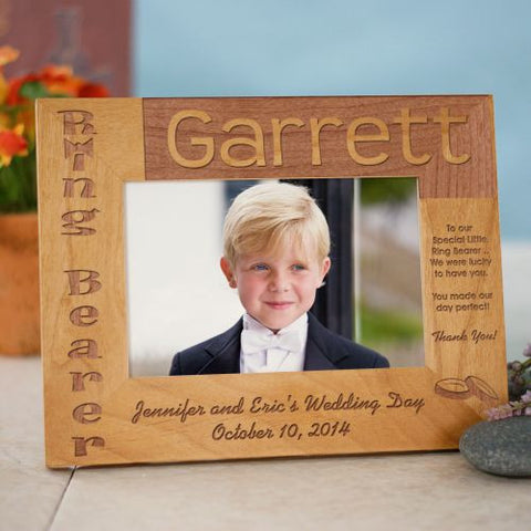 Ring Bearer Personalized Wood Frame