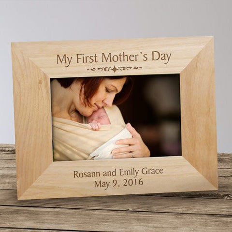 My First Mother's Day Engraved Wood Frame