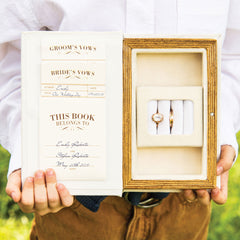 """A Promise Made"" Vintage Inspired Wedding Ring Box"