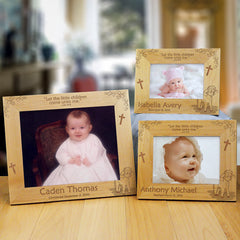 Little Lamb Engraved Wood Frame (3 designs for special dates)
