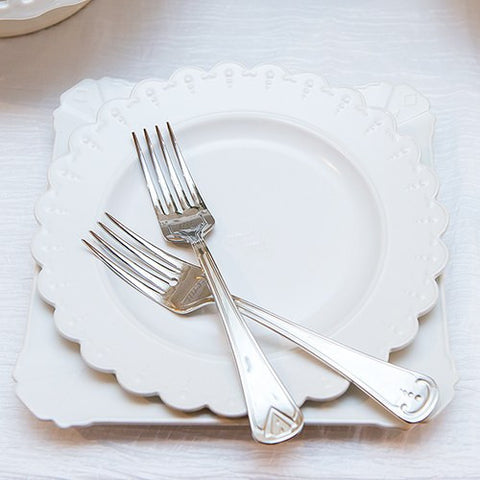 Cake Ceremony Plate & Fork Set