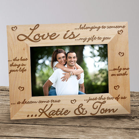 Love Is Personalized Wood Frame