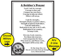 A Soldiers Prayer Personalized Wood Plaque