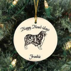 Custom Australian Shepherd Ornament