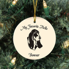 Custom Basset Hound Ornament