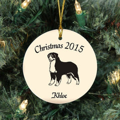 Custom Bernese Mountain Dog Ornament