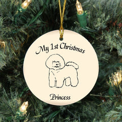 Custom Bichon Frise Ornament