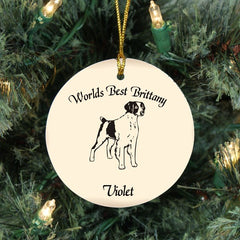 Custom Brittany Dog Ornament