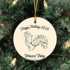 Custom Cavalier King Charles Spaniel Ornament