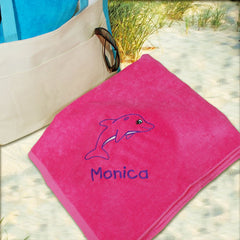 Embroidered Dolphin Towel (3 colors)