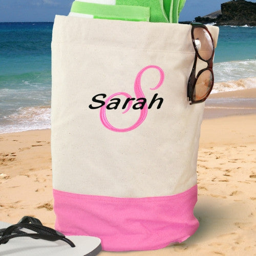 Embroidered Beach Duffel Bag- 5 colors