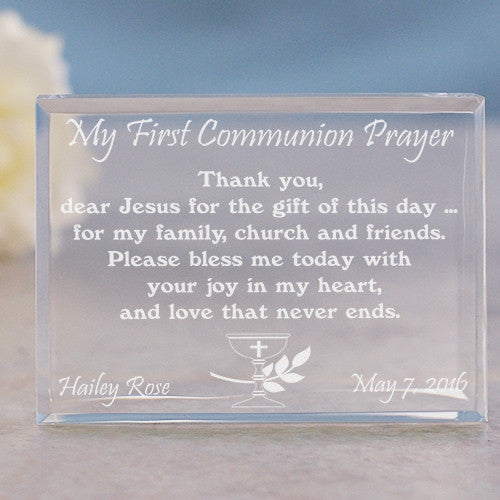 My First Communion Prayer Keepsake