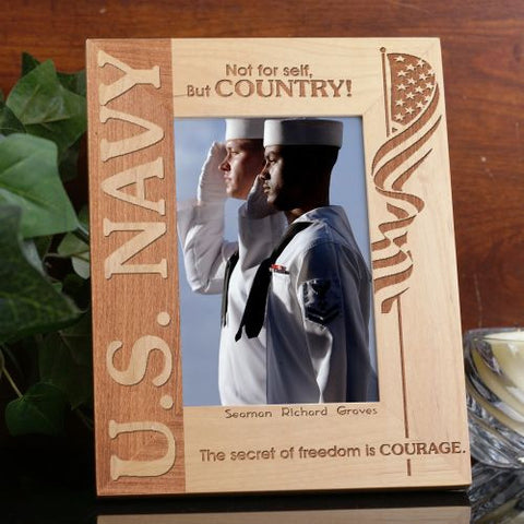 U.S. Navy Wood Picture Frame