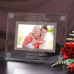 You'll Never Be Forgotten Glass Picture Frame