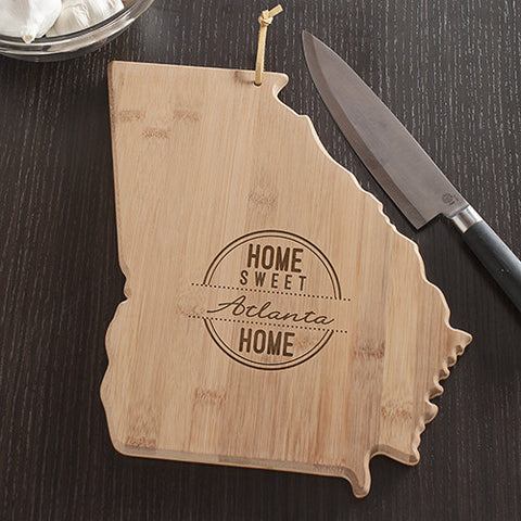 Georgia State Shaped Cutting Board