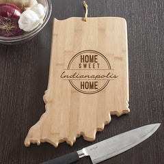 Indiana State Shaped Cutting Board