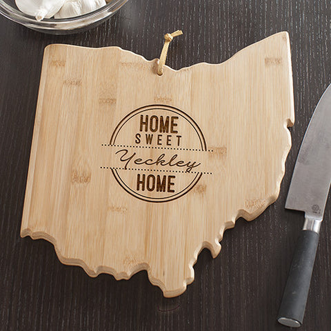 Ohio State Shaped Cutting Board