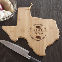 Texas State Shaped Cutting Board