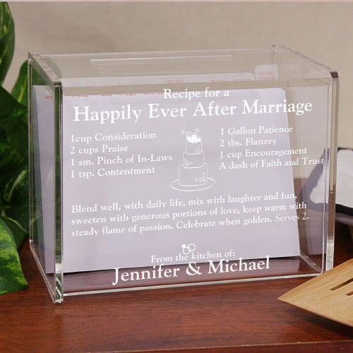 Happily Ever After Recipe Personalized Recipe Box