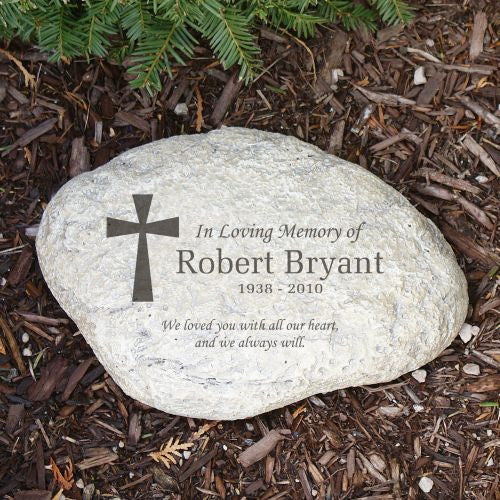 In Memory Of Cross Garden Stone