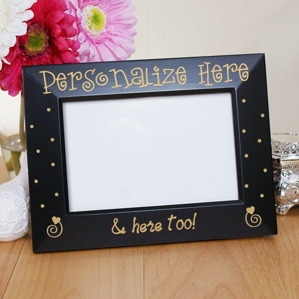 Couples Engraved Black Frame | Bellas Personal Gifts