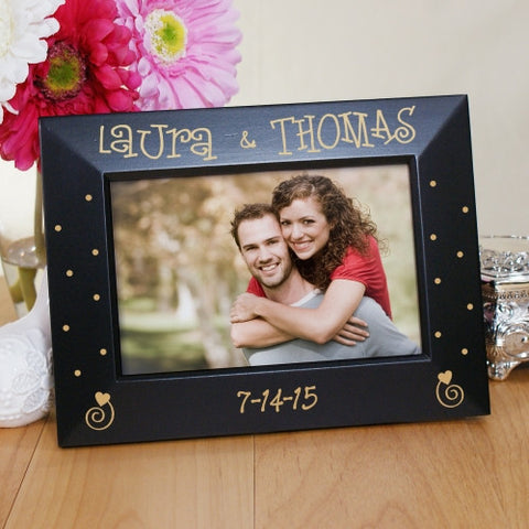 Couples Engraved Black Frame
