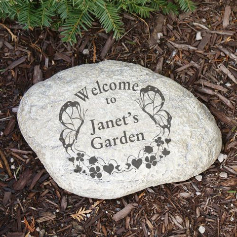 Butterfly Welcome Garden Stone