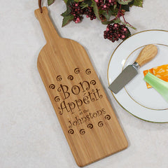Engraved Bottle Shaped Cutting Board