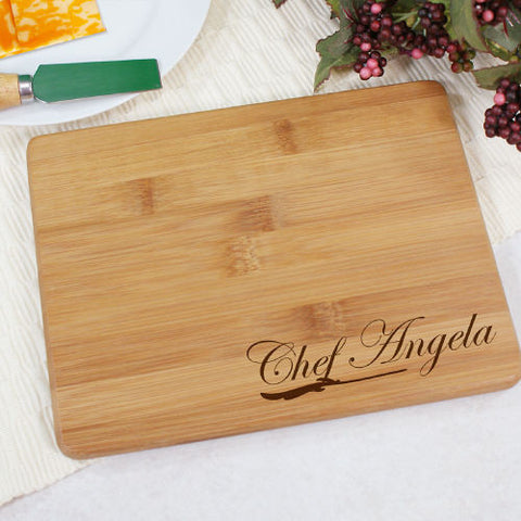 Chef's Engraved Bamboo Cheese Board