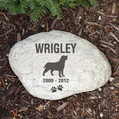 Dog Silhouette Memorial Garden Stone- many breeds!