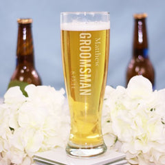 Engraved Wedding Pilsner Glass