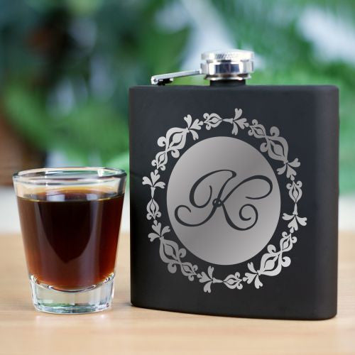 Woman's Black Flask