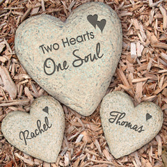 Two Hearts, One Soul Garden Stone Set