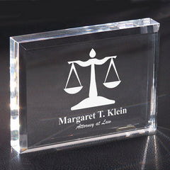 Engraved Attorney Paperweight