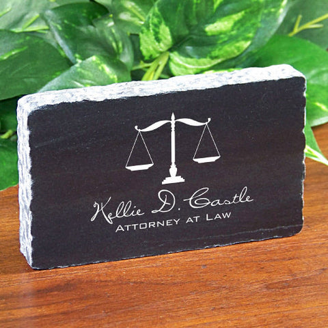 Engraved Marble Legal Keepsake