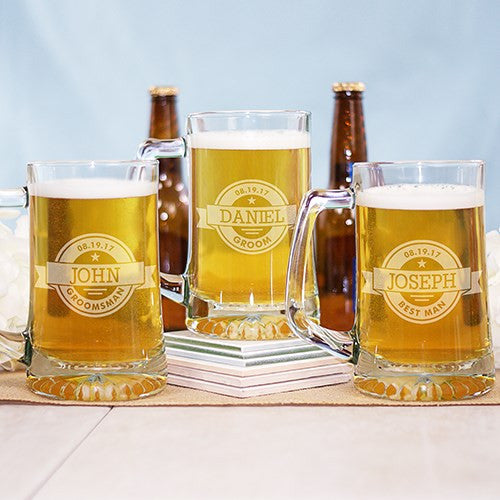 Custom Label Beer Mug