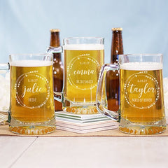 Custom Heart Wreath Beer Mug