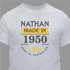 Personalized Aged to Perfection T-Shirt