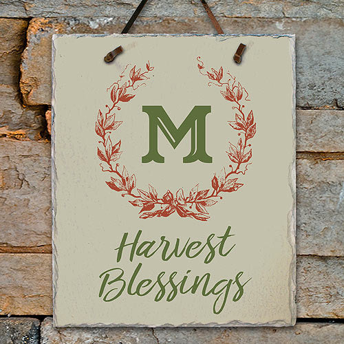 Custom Harvest Blessings Slate Plaque